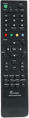 LRIPL Universal All Micromax LED/LCD TV Remote Controller(Black, Grey)