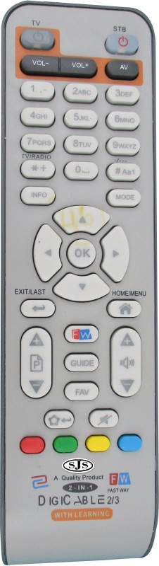 SJS Digicable / Fastway ⅔ With Learing Set Top Box Remote Controller(White)