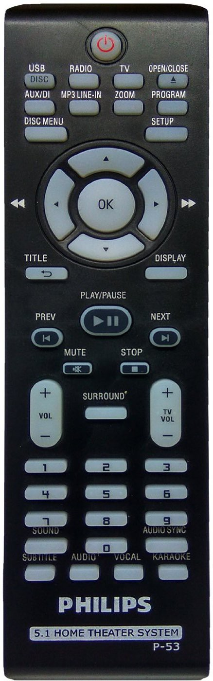 Philips Remote Controller Compatible Philips 5.1 Home Theater System Remote (P-53) Remote Controller Flipkart