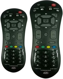 Skykart Videocon Remote Controller Black BUY ONE GET ONE FREE Remote Controller