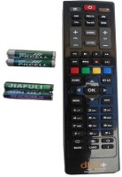 dish tv dish plus hd remote control Remote Controller(Black)