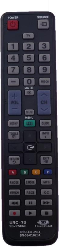 SJS T.V-Lcd-Led URC-70 Remote Controller(Black)