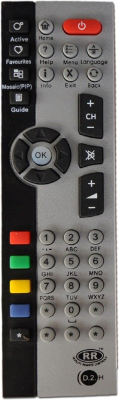 RR DTH Remote Controller(Black, Grey)