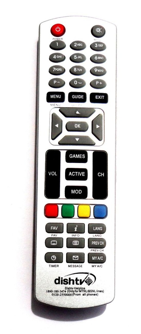DISHTV NON HD NORMAL ORIGINAL Remote Controller
