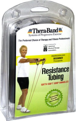 Thera-Band Professional with Soft Grip Handles Resistance Tube(Yellow)