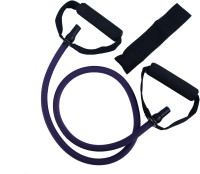 Asquare Mart Level 4 Super Heavy Strength 50-55LB Pull String Resistance Tube(Purple)