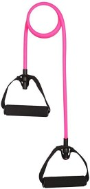 CP Bigbasket Exercise Fitness Pilates Strength Training with Foam Handles Resistance Tube(Pink)
