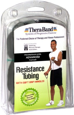 Thera-Band Professional with Soft Grip Handles Resistance Tube(Black)