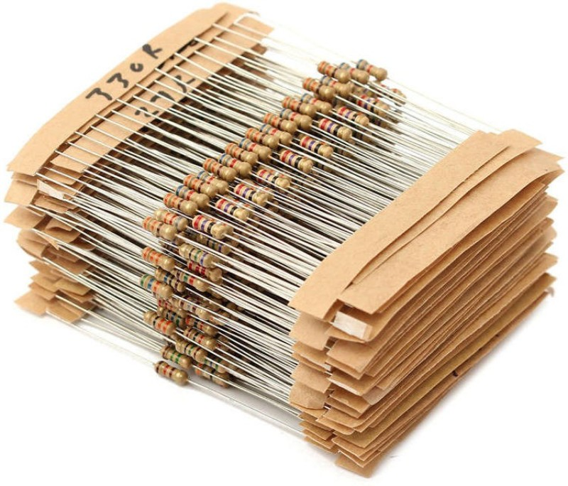 HE Retail Supplies Electronic circuit Resistance Fixed Resistor(33 ohm, 100 ohm, 220 ohm, 330 ohm, 1 kilo ohm, 2.2 kilo ohm, 3.3 kilo ohm, 4.7 kilo ohm, 10 kilo ohm, 33 kilo ohm, 68 kilo ohm, 100 kilo ohm, 1000 kilo ohm +/- 5%)