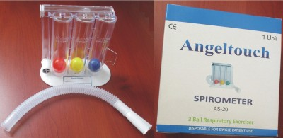 Angeltouch AS-20 Tri-Ball Lung Excerciser Respiratory Exerciser(Pack of 1)