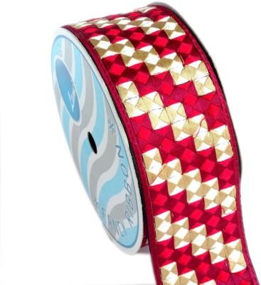 Lami TL4576-Embroidery Red Rayon Ribbon