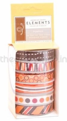 American Crafts 8736 Multicolor Satin Ribbon