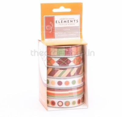 American Crafts 8735 Multicolor Satin Ribbon