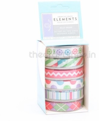 American Crafts 8731 Multicolor Satin Ribbon
