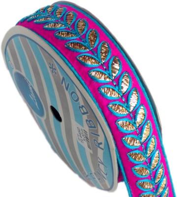 Lami TL4450-Rani,Turquoise, Embroidery Gold Rayon Ribbon