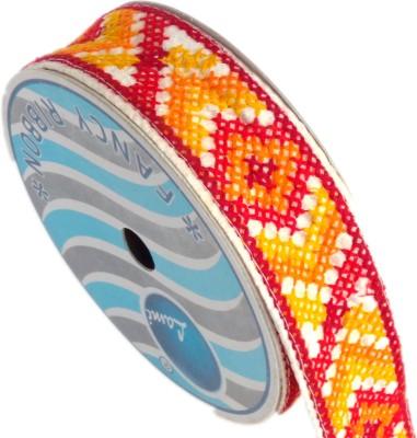 Lami TL4750_Orange,Red,Embroidery Beige Rayon Ribbon