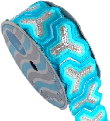 Lami TL4272_Firoji,Embroidery Silver Rayon Ribbon