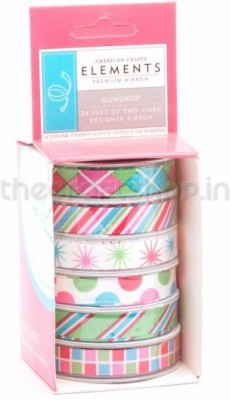 American Crafts 8743 Multicolor Satin Ribbon