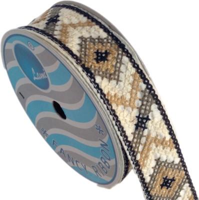 Lami TL4750_Black,Coffee,Embroidery Beige Rayon Ribbon