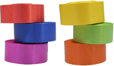 ENERZY Curling Ribbon Enz6 Multicolor Polypropylene Ribbon(Pack of 6)