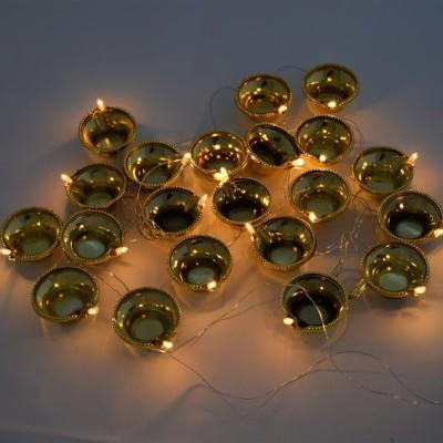 GrandShop 102 inch Gold Rice Lights(Pack of 1)