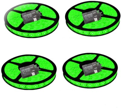 VRCT 196 inch Green Rice Lights(Pack of 4)