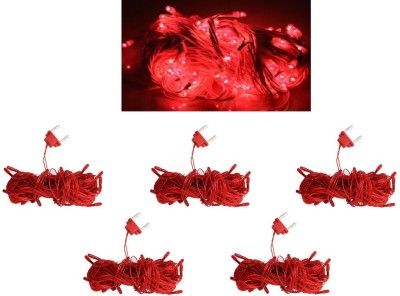 Home Delight 130 inch Red Rice Lights(Pack of 5)