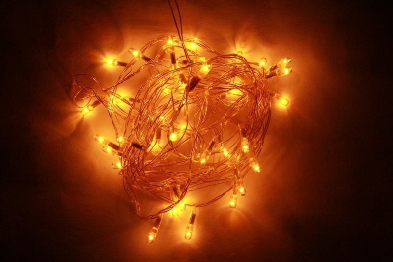 ChristmasTreeShops 150 inch Yellow Rice Lights(Pack of 1)