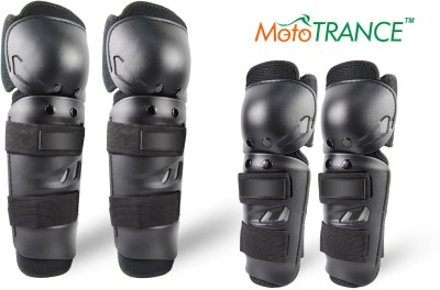 Mototrance Elbow Guard, Knee Guard Free Black(Pack of 4)