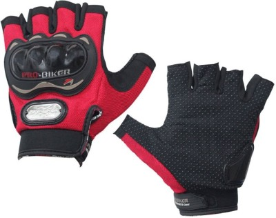 Drylanders Pro biker gloves Elbow Guard Free Red(Pack of 2)