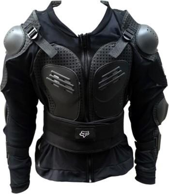 AutoKraftZ RJBLK01 Riding Protective Jacket(Black, Free)