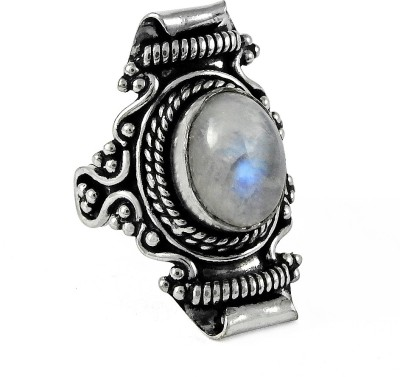 Miska Silver Designer Alloy Moonstone Ring at flipkart