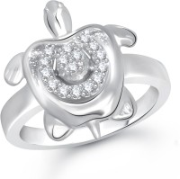 Meenaz Love Bright Gold And Rhodium Alloy Ring