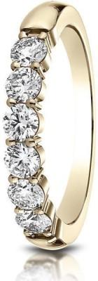 Kiara Jewellery Aakanksha Sterling Silver Swarovski Zirconia 18K White Gold Ring