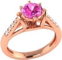 Demira Jewels Dazzling Rose Gold Sapphire, Diamond 14K Rose Gold Ring best price on Flipkart @ Rs. 17769