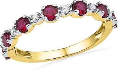 JPearls Rubys 18kt Diamond Yellow Gold ring