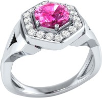 Demira Jewels Cluster Style White Gold Sapphire, Diamond 14K White Gold Ring best price on Flipkart @ Rs. 18900