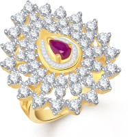 VK Jewels Bewitching Alloy Cubic Zirconia Yellow Gold Plated Ring
