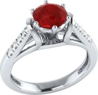 Demira Jewels Dazzling White Gold Ruby, Diamond 14K White Gold Ring best price on Flipkart @ Rs. 17769