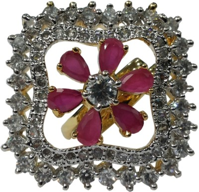 Vijay Laxmi Jewels Alloy Cubic Zirconia, Ruby Ring