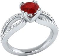 Demira Jewels Solitaire White Gold Ruby, Diamond 14K White Gold Ring best price on Flipkart @ Rs. 18993
