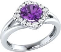 Demira Jewels Alluring White Gold Amethyst, Diamond 14K White Gold Ring best price on Flipkart @ Rs. 16671