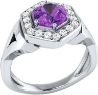 Demira Jewels Cluster Style White Gold Amethyst, Diamond 14K White Gold Ring best price on Flipkart @ Rs. 18900