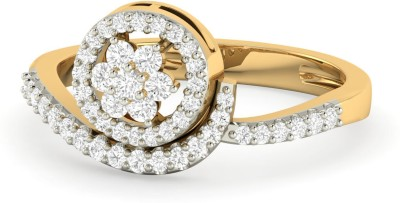 WearYourShine by PC Jewellers PC Jeweller The Emestina 18kt Diamond Yellow Gold ring at flipkart