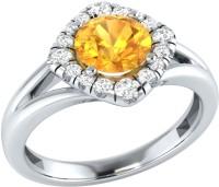 Demira Jewels Alluring White Gold Citrine, Diamond 14K White Gold Ring best price on Flipkart @ Rs. 16671
