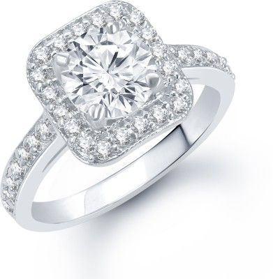 VK Jewels VK Jewels Classy Rhodium plated Ring Alloy Cubic Zirconia Rhodium Ring at flipkart