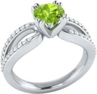 Demira Jewels Solitaire White Gold Peridot, Diamond 14K White Gold Ring best price on Flipkart @ Rs. 18993