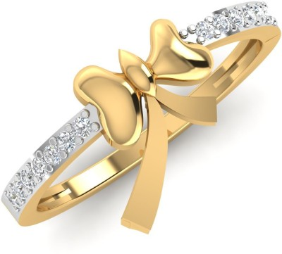 Caratify Love knot 14kt Diamond Yellow Gold ring