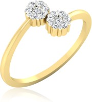 Forevercarat Twin Daisy Silver Diamond 14K Yellow Gold Ring best price on Flipkart @ Rs. 5266