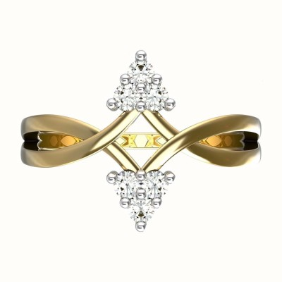 JewelsForum 14Kt Yellow Gold Bloomy Triad Diamond Ring Yellow Gold Diamond Ring
